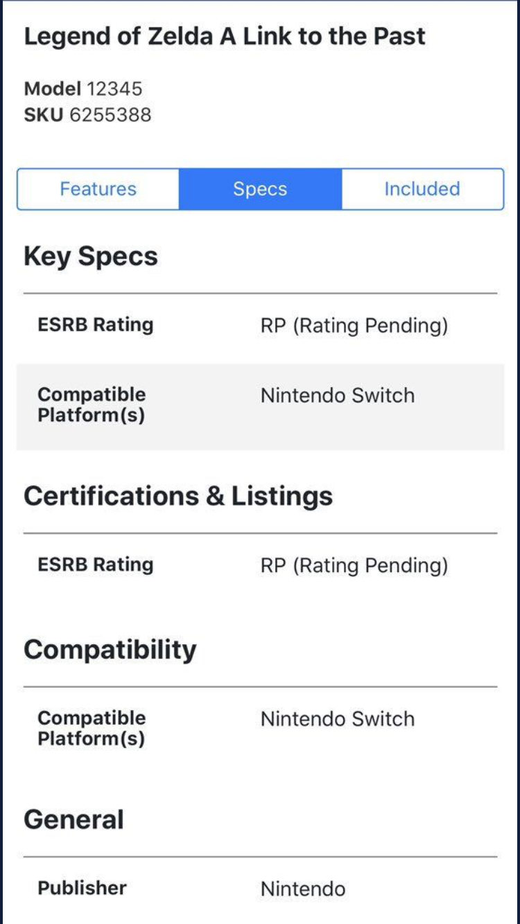 Best Buy Has Listed The Legend of Zelda: A Link to the Past For Switch!