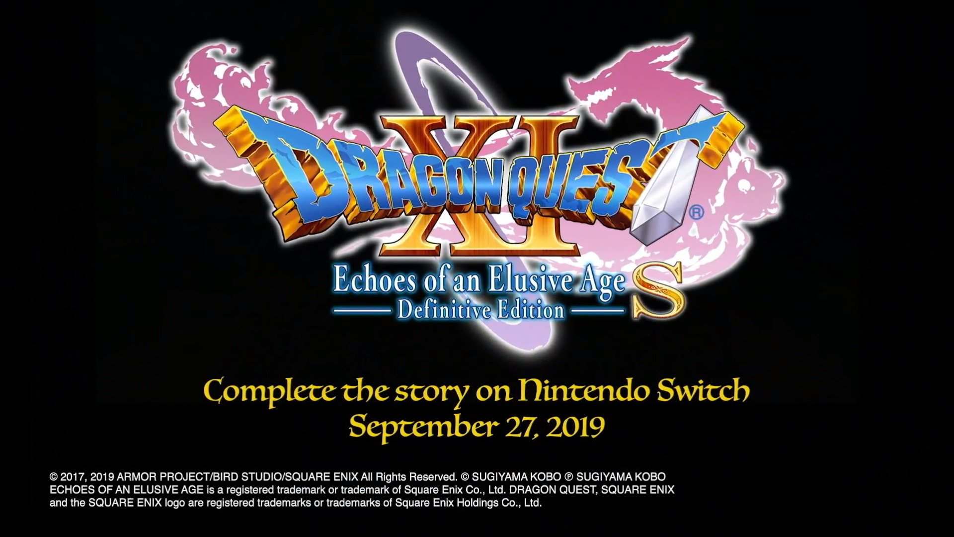 E3 Announcement: Dragon Quest XI S: Echoes of an Elusive Age Definitive Edition releases on September 27, 2019