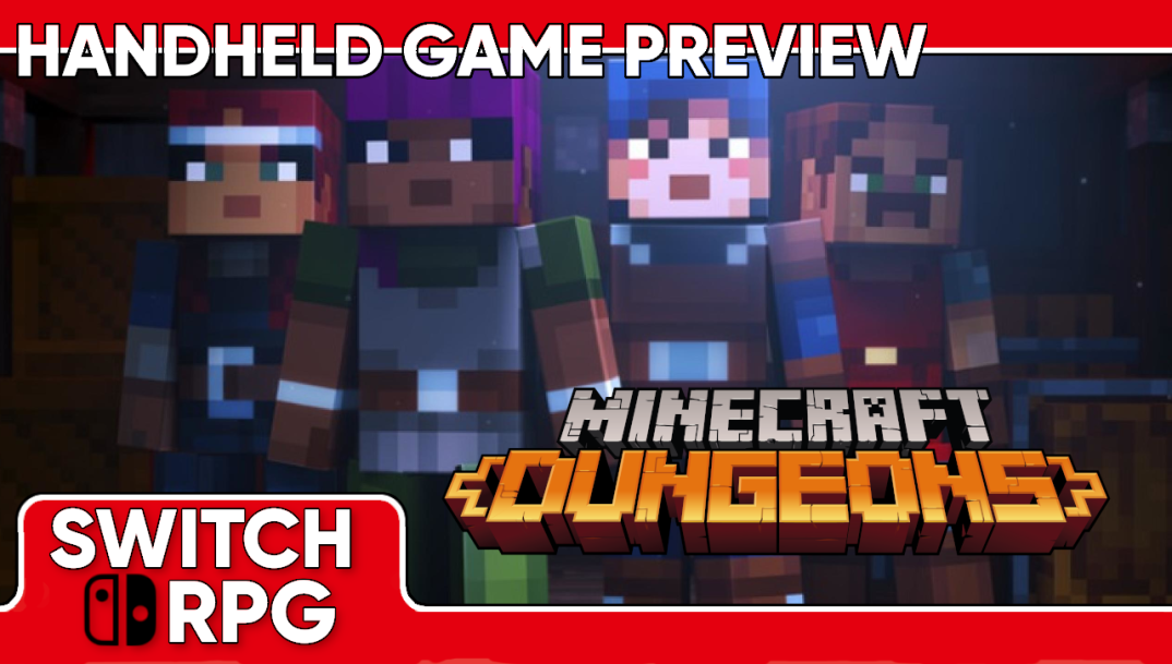 Minecraft Dungeons Handheld Gameplay Preview (Switch)