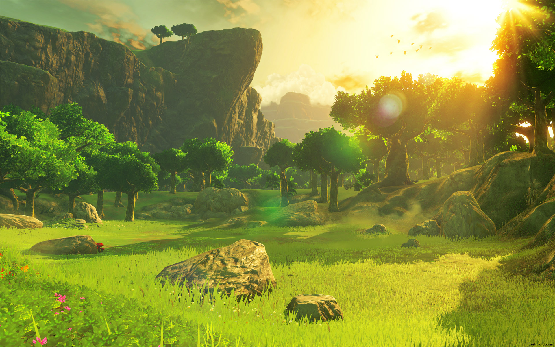 Breath Of The Wild Desktop Wallpaper: Zelda: Breath Of The Wild Scenic Desktop Wallpaper