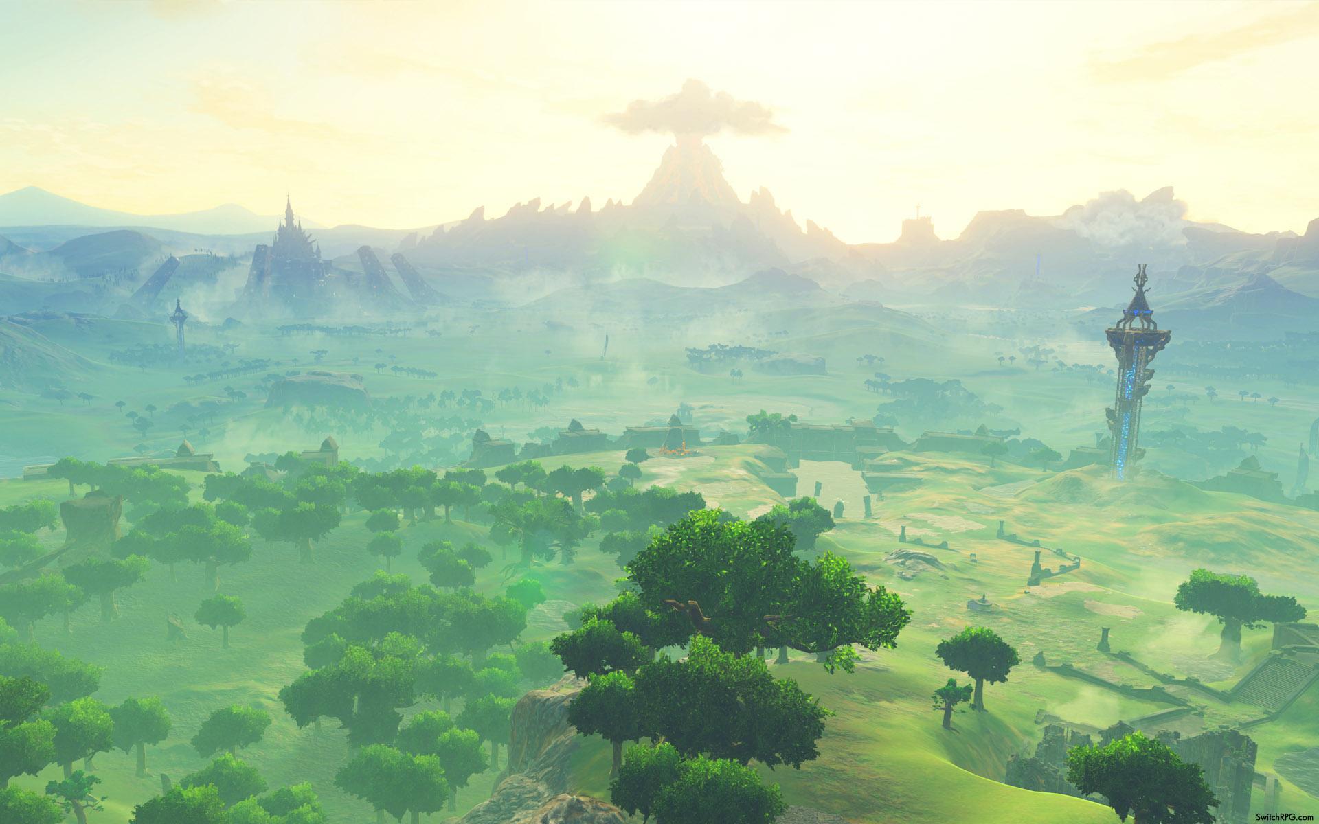 Zelda Breath Of The Wild Scenic Desktop Wallpaper Collection